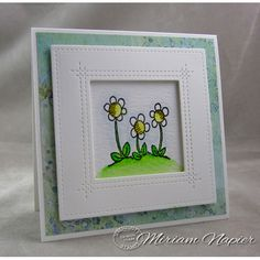 Serendipity Stamps Simple Flower Cling Stamp Set - 50% Off May Stamp of the Month