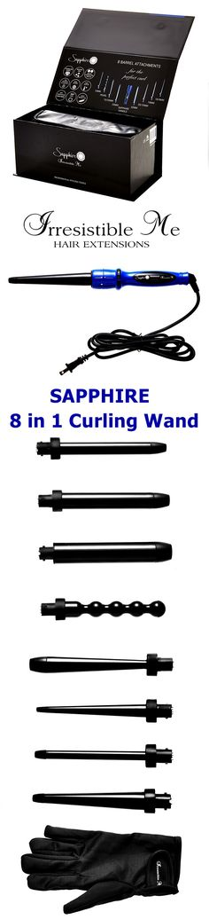 Shop the new generation of hair tools by Irresistible Me! Sapphire digital hair wand with tourmaline technology and 8 different interchangeable barrels - unbeatable price tag as well. Click for more details and video reviews! #IrresistibleMe