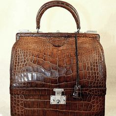 Hermes Sac Mallette Bag in Crocodile with Silver Hardware
