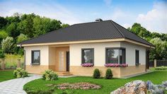A Functional One Story House m²) With an Envelope Roof and a Corner Window in the Kitchen Free House Design, Simple House Design, Style At Home, Modern Exterior, Exterior Design, Plans Architecture, Modern Architects, One Story Homes, House Siding