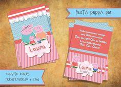 Convite 10x15 frente/verso + tag personalizada Envelope: acrescimo de R$1,00. Mínimo 30 unidades R$ 4,50