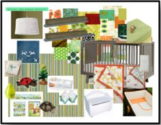 Creating an Eco-Chic Nursery for Less: Gender Neutral Moodboard - www.thedesignconfidential.com