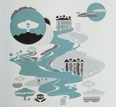 Blue River Screen Print