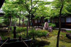 Kennin-ji temple Kyoto 建仁寺 京都 日本 Japanese Garden Style, Japanese Tea House, Asian Garden, Chinese Garden, Japanese Gardens, Zen Rock Garden, Garden Waterfall, Japanese Culture, Garden Styles