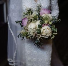 Country style Bridal bouquet with stunning Summer peony roses, spray thistle, veronica, astilbe and astrantia. A perfection selection for an Irish country wedding day. Wedding Flowers, Wedding Day, Astrantia, Astilbe, Stunning Summer, Bridal Bouquets, Country Style, Veronica, Peony