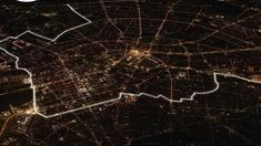 Lichtgrenze. 8,000 illuminated balloons to recreate the Berlin Wall to commemorate the 25th anniversary of its fall. By artist, Christopher Bauder.