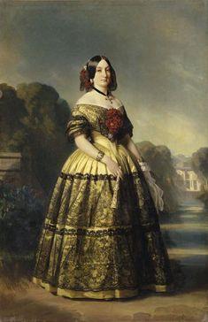 Maria Luisa von Spanien; by Franz Xaver Winterhalter, c. 1847.