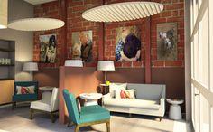 Cheryl Janis Interior Design Marin County | Design Renderings | Cheryl Janis Designs - Veterinary Clinic | Dog Zone