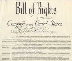 Bill of Rights- Today is the 221st  anniversary of the adoption of the Bill of Rights. On this date in 1791, the Commonwealth of Virginia was the 12th State to ratify the ten amendments that were then incorporated into our Constitution.