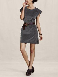 Office Style Corduroy Dress