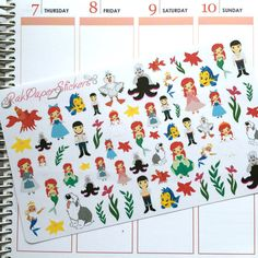 Under The Sea! - set of 60+ stickers for your Erin Condren, Plum Paper, Filofax or other calendar or planner!