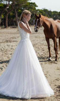 Featured Dress: Christos Costarellos; Wedding dress idea.
