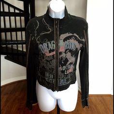 Skinny Minnie Zipper Jacket 100% cotton  Skinny Minnie Zipper Jacket 100% cotton perfect condition runs smaller Skinny Minnie Jackets & Coats