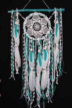 Moyenne de Dreamcatcher Boho Turquoise Dream Catcher crochet