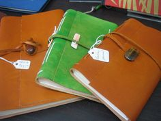 Textures:a combined effort of area artisansa.k.a. Textures Craftworks  -leather journals by Sharon Beasley - $45 and up
