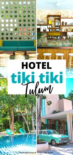 Looking for a boutique Tulum, Mexico hotel on a budget? Check out the Hotel Tiki Tiki, where you just might run into Don Draper at the mid-century bar! Located in the Tulum jungle, Tiki Tiki has a chic pool, sleek rooms and cool mid century modern design. Where to stay in Tulum Mexico | Tulum Mexico hotel design  | Tulum Mexico interior design | Tulum Mexico resorts boutique hotels | Tulum Mexico decor | Mid century modern design | Mid century architecture | Modern mid century architectur Unique Hotels, Beautiful Hotels, Best Hotels, Amazing Hotels, Tulum Mexico Resorts, Mexico Destinations, Travel Destinations, Don Draper, Mexico Travel