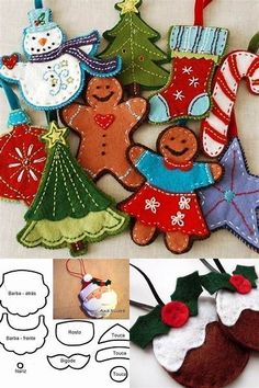 Christmas Felt Ornaments Templates - Bing images