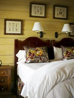 Muted Yellow: Airy and Relaxing  If a bright yellow isn't your style, try a neutral pale shade. The added bonus: this shade gives the appearance of a larger room. Designer Kathryn Greeley used an earthy yellow in this cottage-style bedroom to create a relaxing look.
