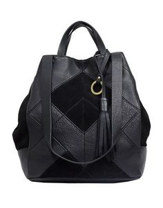Sanctuary Textureblock Leather Convertible Bag Women's Black
