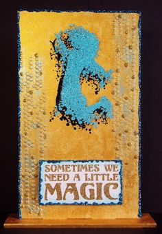 Pauline's Crafty Haven: Visible Image Stamps and Monolith, Pebeo Dyna Paints, Fantasy Film & Stickles.