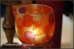 DIY Tutorial - Stained Glass Votive Candle Holder
