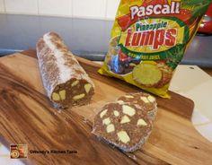 Pineapple Lumps Log Cake