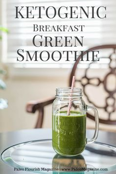 ketogenic breakfast green smoothie