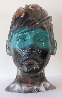 HEAD NUMBER 1-Nick Gentry 2011 / Mixed media resin sculpture / 22cm x 30cm x 25cm / Signed 1 off original / Miami Art Basel, SCOPE booth A39 (Robert Fontaine Gallery) The head sculpture contains a mixture of items that people have kindly given to me. It seems we all have old objects that we now no longer need. Would you like to see them in a piece of art? Please send them to me and I will include them in my next piece. Thank you.