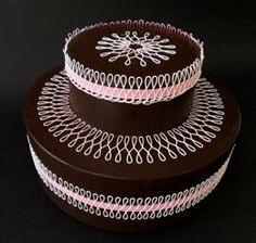 Created using the Celebrations Ribbons Mat - SugarVeil Confectioners' Mats
