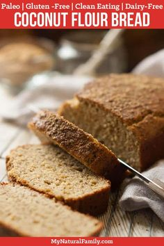This Paleo coconut flour bread looks and tastes so similar to a honey wheat bread, thanks to the honey and flax meal. The flax meal gives the bread a somewhat chewy texture while the arrowroot starch helps hold it together. Paleo Bread Machine Recipe, Paleo Coconut Flour Bread Recipe, Baking With Coconut Flour, Almond Flour, Almond Milk, No Bread Diet, Best Keto Bread, Paleo Sandwich Bread, Bread Alternatives