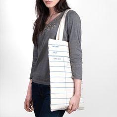 Library Card natural tote bag | Outofprintclothing.com