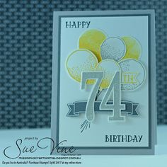 Miss Pinks Craft Spot featuring Stampin' Up! products by Sue Vine, Adelaide South Australia Birthday Numbers, Birthday Cards, Birthday Blast, Male Birthday, Pink Crafts, Bird Cards, Milestone Birthdays, Masculine Cards, Flower Cards