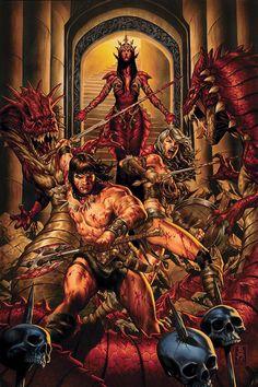 Conan the Barbarian Vol. 2 [Textless] (Variant Cover) Art by: Mark Brooks Dark Fantasy Art, Fantasy Artwork, Fantasy World, Conan The Barbarian Comic, Barbarian Movie, Conan O Barbaro, Conan The Destroyer, Larp, Savage Worlds