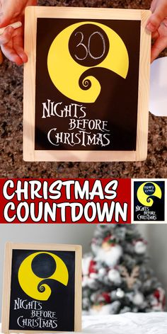 Merry Christmas, Days Until Christmas, Nightmare Before Christmas, Christmas Crafts, Christmas Decorations To Make, Christmas Projects, Xmas Countdown, Vinyl Projects, Craft Fairs