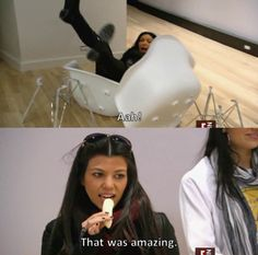 In fact, Kourtney's reaction to most things Kim does is often just hilarious. 43 Reasons Why The Best Two Kardashians Are Actually Kourtney And Khloe Funny Shit, Funny Posts, The Funny, Funny Memes, Hilarious, Funny Stuff, Funny Things, 21 Things, Random Things