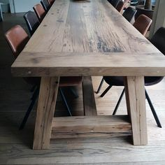 Farmhouse Style Dining Table, Farmhouse Table Plans, Dinning Table, Patio Table, Wood Slab Table, Rustic Wooden Table, Wood Table Bases, Diy Garden Table, Wooden Pallet Projects