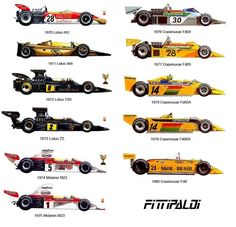Formula 1 collectors' reference: Emerson Fittipaldi's F1 cars 1970-1980