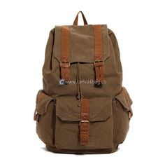 17 inch Laptop Backpack Large Canvas Backpack Book Bag- free worldwide shipping on that site