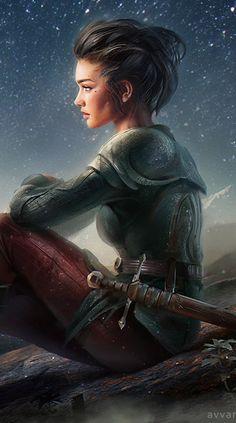 Claryen einzige und älteste tochter es Königs der Krieger  sie ist das einzige Mädchen in ihrem alter und so mit Jungen aufgewachsen sie kämpft und trainiert mit ihnen freut sich aber sehr das Jonatha jetzt bei ihnen ist und sie auch mal eine Freundin hat.