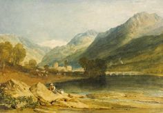 Joseph Mallord William Turner 'Bonneville', 1808–9 - Watercolour on paper -  Dimensions Support: 277 x 394 mm -  © The British Museum