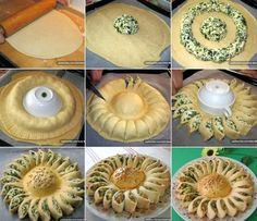 Sunny Spinach Pie When you're hosting a party, you want to surprise your guests with something out of the ordinary and extra special. This sunny spinach pie recipe will delight your guests and have them beggingSavory Spinach Pie Recipe If a delicious dish Sunny Spinach Pie Recipe, Appetizer Recipes, Appetizers, Dinner Recipes, Bread Recipes, Cooking Recipes, Pastry Recipes, Spinach And Cheese, Spinach Dip