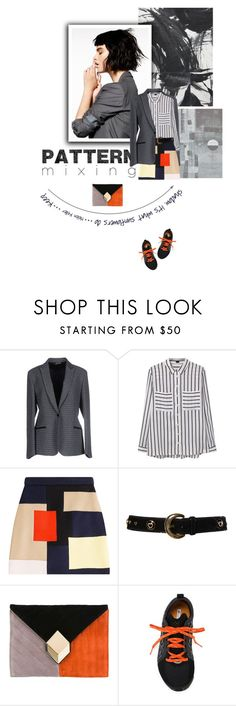 """Head-to-Toe Pattern Mixing"" by lacas ❤ liked on Polyvore featuring Brian Dales, MANGO, MSGM, ESCADA, Pierre Hardy, adidas and patternmixing"