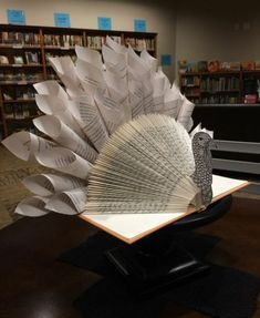 Love book folding book folding basics explained this lists book folding turkey decoration made from open book with folded pages decorated with fandeluxe Image collections