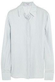 c926694d7b5b27 Le Classic striped silk-charmeuse shirt Silk Charmeuse
