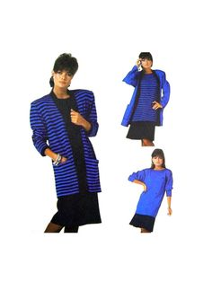 1987 Simplicity 9233 Loose Fitting Cardigan by patternscentral
