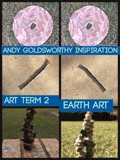 Jacobs Goldsworthy inspired art.