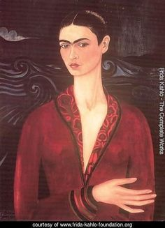 Self-portrait in a Velvet Dress | Frida Kahlo. Large resolution image, ecard, rating, slideshow and more!