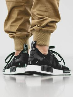 Black & white Adidas NMD × brown chino #menswear