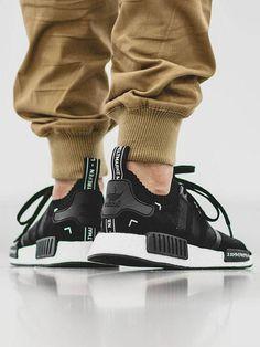 Black & white Adidas NMD × brown chino #menswear