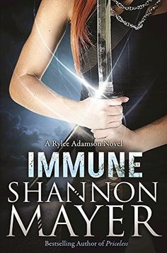 """Immune: A Rylee Adamson Novel, Book 2 by Shannon Mayer. """"My name is Rylee and I am a Tracker."""" When children go missing, and the Humans have no leads, I'm the one they call. I am their last hope in bringing home the lost ones. I salvage what they cannot. Underestimating demons is a bad idea, and it's a mistake that may cost me not only my own life, but the life of a missing child. If I can swallow my pride, and allow Agent O'Shea to help me find a way to deal with the demon, we might be…"""